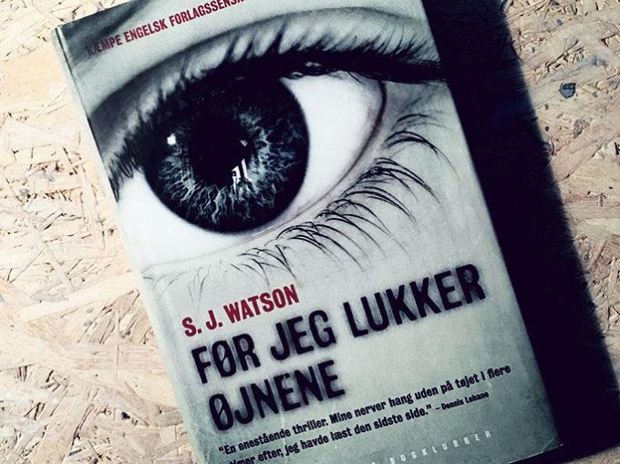 Boganmeldelse - Når jeg lukker øjnene af S. J. Watson