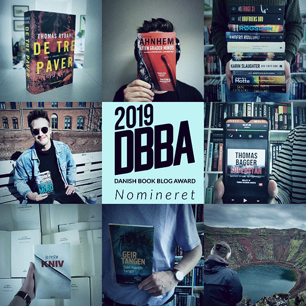Jeg er nomineret til Danish Book Blog Award 2019